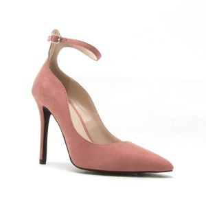 Qupid Ankle Strap Heels Dusty Rose Size 6 New